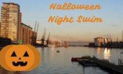 HalloweenNightSwim RoyalDocklands london 2018