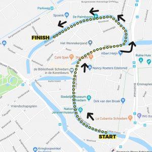 BrandersZwemtocht Schiedam parcours 1,4km