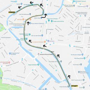 BrandersZwemtocht Schiedam parcours 2,7km