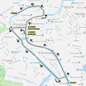 BrandersZwemtocht Schiedam parcours 6km